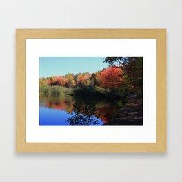 Autumn Trail Lake Relections Framed Art Print