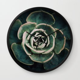 DARKSIDE OF SUCCULENTS IV-A Wall Clock