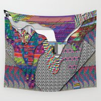 internet Wall Tapestries featuring drippy internet by oops