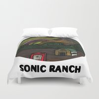 sonic Duvet Covers featuring sonic ranch by Sonic Ranch