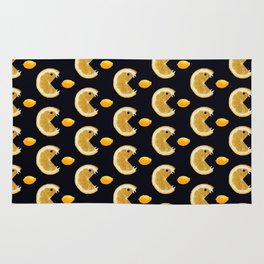 Funny Lemon Eats Lemon Pattern Rug
