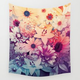 Hipster Flowers Wall Tapestry