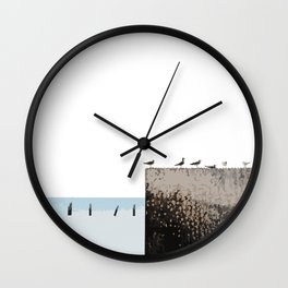 Dock Birds Wall Clock