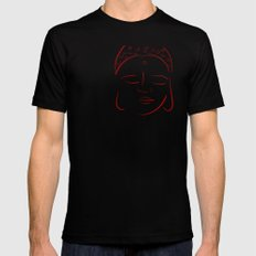 Red Buddha Black SMALL Mens Fitted Tee