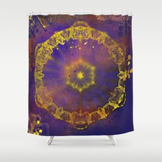 Abstract wheel of fortune Shower Curtain