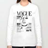 kate moss Long Sleeve T-shirts featuring Kate Moss / David Bowie by Linda Nicolaysen
