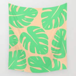 Monstera Leaf Print 3 Wall Tapestry