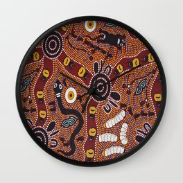 Australian Aboriginal Wall Clock
