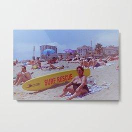 SURF RESCUE Metal Print