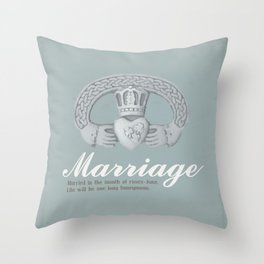 June Marriage Throw Pillow