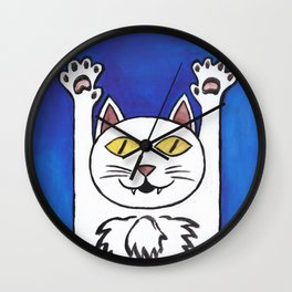 hurray cat Wall Clock