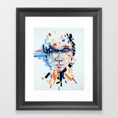 She slowly crumbles Framed Art Print