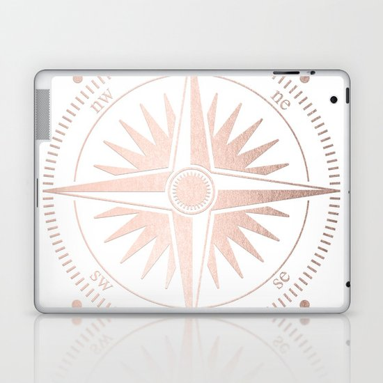 Rose Gold on White Compass by cascadia