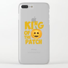King of the Patch Pumpkin Halloween Graphic T-Shirt Clear iPhone Case