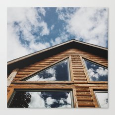 Cabin Window Canvas Print