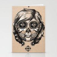 dia de los muertos Stationery Cards featuring Dia de los Muertos by Bryan Collins