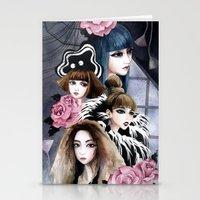2ne1 Stationery Cards featuring 2NE1 by Yuki Chen