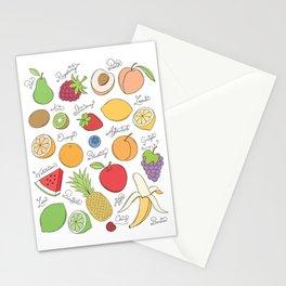 Fruit Doodles Stationery Cards