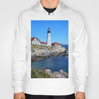 maine Hoodies featuring Maine Icon by Exquisite Photography by Lanis Rossi
