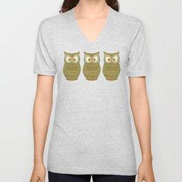 Dermot Owl Unisex V-Neck