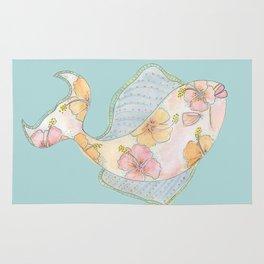 tropical watercolor fish Rug