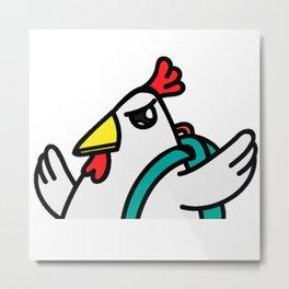 tyler duck Let's Fight!! Metal Print