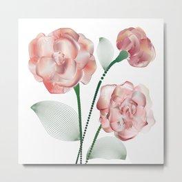 Line roses 1 Metal Print