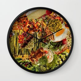 Food Collage 7 Wall Clock