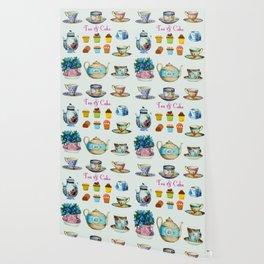 Tea & Cake Wallpaper