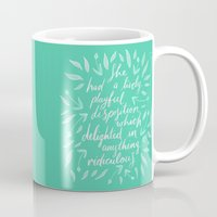 pride and prejudice Mugs featuring Pride and Prejudice by IndigoEleven