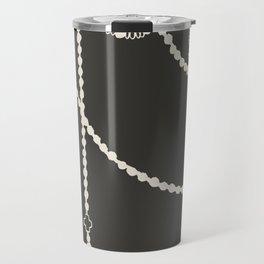 Beaded Garland With Tassels in Black Travel Mug