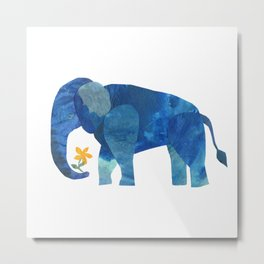 Blue Elephant Metal Print