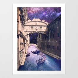 Space Canal Art Print