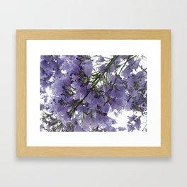 It's Raining Purple Cups Framed Art Print