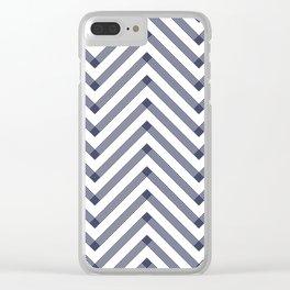 Marine Chevron Zigag pattern - dark blue on white on #Society6 Clear iPhone Case