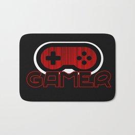 Red Gamer Bath Mat