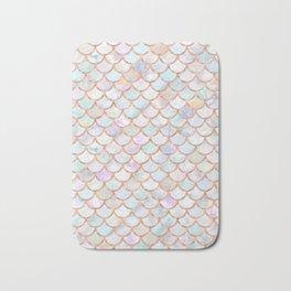 Pastel Memaid Scales Pattern Bath Mat