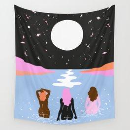 moonlight swim Wall Tapestry