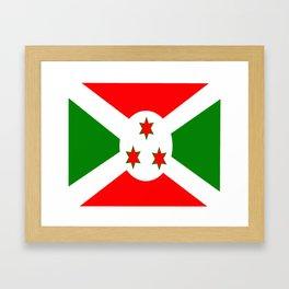 Flag of Burundi Framed Art Print