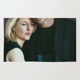 Gillian Anderson and David Duchovny oil color painting Rug