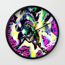 Infinite II Painting by Spin180 Wall Clock