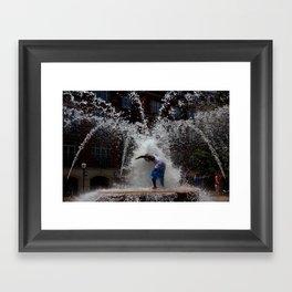 Human Fountain Framed Art Print
