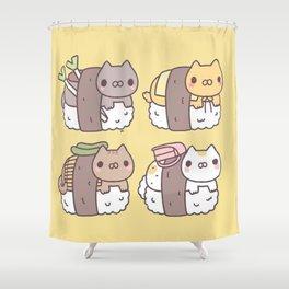 Sushi Cats Shower Curtain