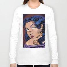 Tattoo Girl - Blue Long Sleeve T-shirt