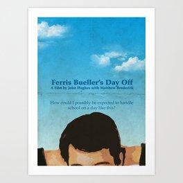 Ferris Bueller' Day Off Art Print