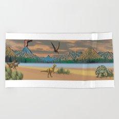 A Dinosaur History Beach Towel