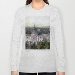 WASHINGTON CAPITOL 1857 city old map Father Day art print poster Long Sleeve T-shirt