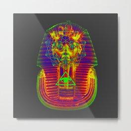 Neon Prisma Tutankhamun Metal Print