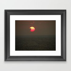 The Sun is Falling Framed Art Print