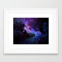 fantasy Framed Art Prints featuring Fantasy Path Purple by 2sweet4words Designs